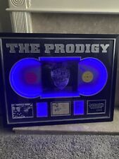 More details for prodigy signed by full band including keith flint light up frame with aftal coa