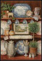Vintage Cupboard - Chart Counted Cross Stitch Patterns Needlework DIY DMC 14 ct