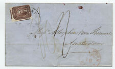 1857 #12 5 cent 1851 New Orleans to Netherlands (2 reported) with cert [y4018]