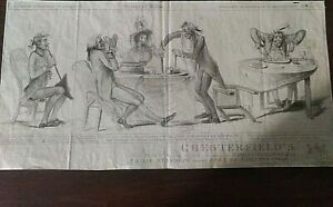 1791 Engraving Samuel William Fores Chesterfield's caricature by Samuel Collings