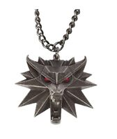 1d3a3bc43c6 JINX The Witcher 3 Necklace with Wild Hunt Medallion   Chain + LED Eyes