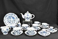 Blue Danube by Blue Danube Lot of 21 Pieces - Cups Teapot Creamer Sugar PLUS!