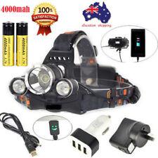 80000lm Headlamp 3xXML T6 LED Headlight Rechargeable Flashlight 18650 Power Bank