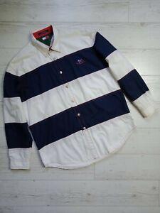 Tommy Hilfiger Vintage 90s Sailing Gear Shirt Striped Long Sleeve Size L