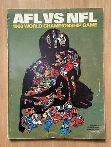 VINTAGE 1968 NFL SUPER BOWL II PROGRAM - GREEN BAY PACKERS vs OAKLAND RAIDERS