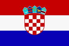 Lindemann National-/Gast Flagge Kroatien 20x30cm,Polyester,hochwertige Qualität