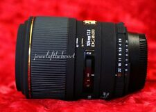 Exc Sigma 105mm 2.8 Macro AF DG Lens w/Hood for Nikon D70 D80 D90 D100 D300 D700