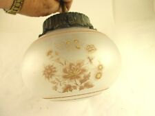 VINTAGE WALL MOUNT FLORAL ROUND GLASS LIGHT FIXTURE