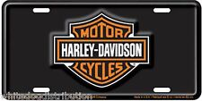 Harley Davidson Bar & Shield Embossed Metal Vanity Car License Plate Auto Tag