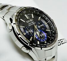 New Seiko SSG009 Coutura  Radio Sync Solar Chronograph Stainless  Men's Watch