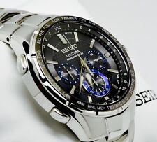New Seiko SSG009 Coutura  Radio Sync Solar Chronograph Stainless  Men's Watch
