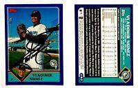 Vladimir Nunez Signed 2003 Topps #142 Card Florida Marlins Auto Autograph