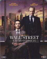 Blu Ray • SLIPCASE Wall Street Il Denaro non Dorme Mai MICHEAL DOUGLAS ITALIANO