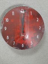 RED Zazzle kitchen clock