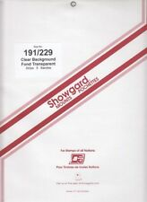 Showgard Clear Long Stamp Mounts 191 mm / 229 Celebrate the Century Fresh Pack