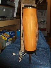 "RARE  1970's Calypso TV Table Lamp Box  17"" high Tallest  14 1/2"" Hi Pushed Down"