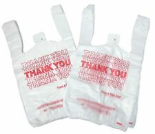 NEW 1000 ct PLASTIC SHOPPING BAGS T-SHIRT STYLE WHITE SMALL SIZE 10.5 X 5 X 3