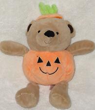 "Carters Plush Pumpkin Teddy Bear Halloween Stuffed Animal Baby Toy 8"""