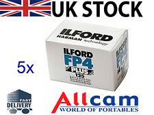 Paquete De 5: Ilford FP4 Plus 125 tamaño 35mm 36 exposiciones negro y blanco película