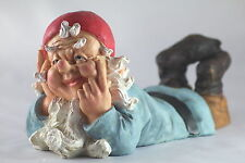 GARDEN GNOME, Relaxing on his Front - TRADITIONAL Gift for Gardeners