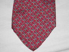 "Bert Pulitzer Red Print 100% Silk Necktie Measures 58""L X 3.5""W Free Shipping"