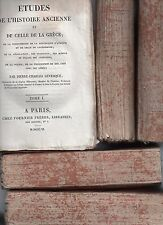 LEVESQUE ETUDES DE L'HISTOIRE ANCIENNE 1811 ANTIQUITE GRECE EGYPTE 5 VOL COMPLET