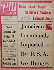 GERMANS LOSE 1009 TANKS - JAMAICAN FARMHANDS GO HUNGRY 1943 WWII JULY 7 PM DAILY