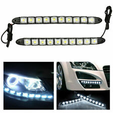 1 Pair LED Car Daytime Running Light Auto Driving DC 12V Bendable Fog Strip Lamp