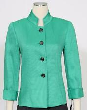 TAHARI Green Sz 8 Women's Poly Jacket $129 New