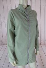 PBJ Sport Sweat Jacket L Celery Green Cotton Spandex Stretch Blend Zip Front HOT