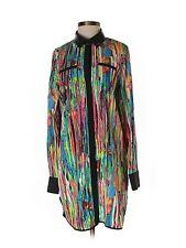 Prabal Gurung for Target Nolita Shirt Dress Tunic Faux Leather Collar Size S