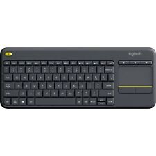 Logitech K400 Plus USB Wireless Keyboard with Touchpad Android TV Box HTPC Black