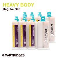Element HEAVY BODY VPS PVS Impression Material REGULAR Set 8 X 50ML Dental