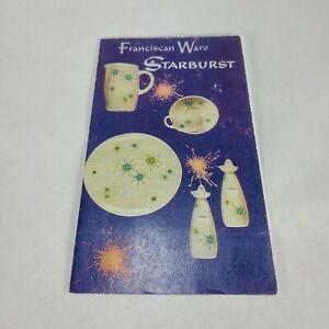 Vintage Franciscan Starburst Price Guide Catalog 1959 RARE