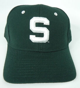 MICHIGAN ST. STATE SPARTANS NCAA VINTAGE FITTED SIZED ZEPHYR DH CAP HAT NWT!
