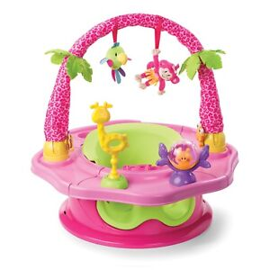 Baby Girls Seat Infant Floor Pink Activity Play Support Chair Tray Safety Toy
