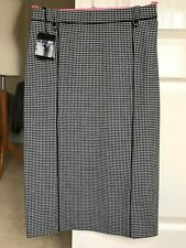 NEW JAEGER Houndstooth Check Wool Pencil Skirt, Size 08, RRP £160