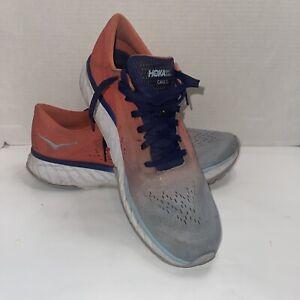 Men's Hoka One One Cavu 2 Running Shoes size 12.5  Walking Fitness Orange Blue
