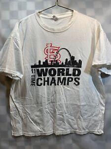 St Louis Cardinals 11 Time World Champs Baseball T-Shirt Size XL