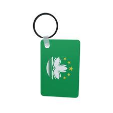 Schlüsselanhänger Flagge Fahne Macao Alu 40 x 57 mm
