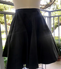 AZZEDINE ALAIA BLACK COTTON CUT OUT SKIRT Size Small