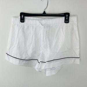 J.Crew Women's White Pajama Shorts Size M