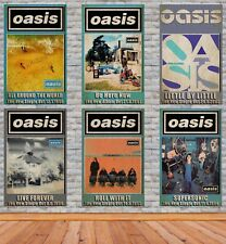 More details for oasis singles and album posters vintage look various sizes available