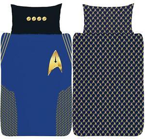 Star Trek Discovery Uniform Single Duvet Cover Reversible Bedding Set