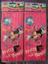 2 Pkg. Disney Minnie Mouse Treat Bags W/ Ties-16 Per Pkg.-Free Shipping-New
