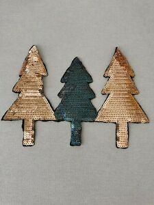 Christmas Trees Sequin Applique (sew On)