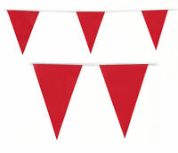 Bunting Red Liverpool Arsenal Football Cup Colour 20 Flags 10 Metres 33 Feet