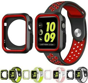 New TPU Case Flexible Rubber Trim Cover for Apple Watch (Series 3, 42mm)