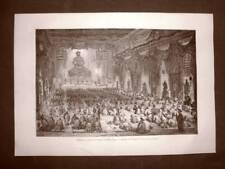 Pechino nel 1863 Cerimonia religiosa nel Tempio dei mille Lama Cina