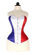 New SteamPunk Stylish Flag of France Satin Corset